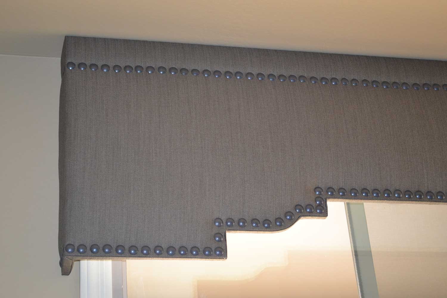 Cornice with Nailheads over window