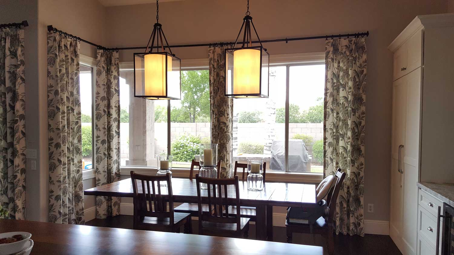 dining space with large table