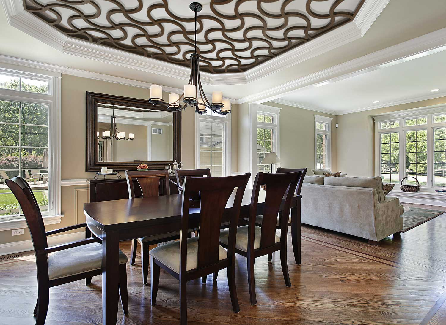 dining and living spaces, fully furnished